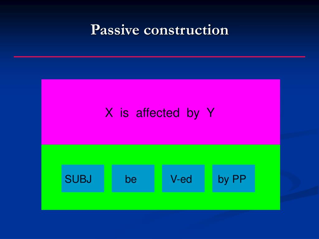 Passive construction