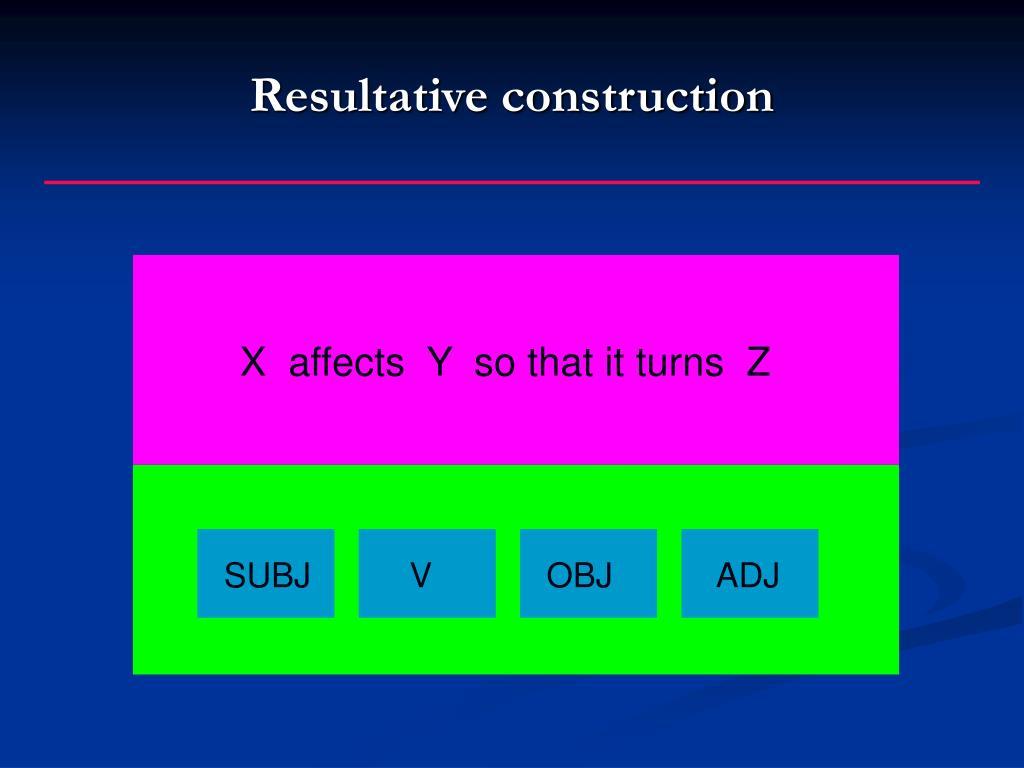 Resultative construction