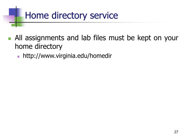 Home directory service