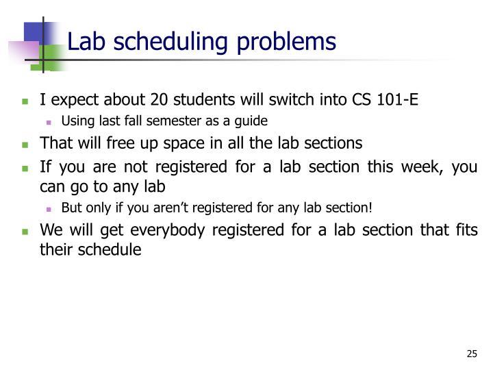 Lab scheduling problems