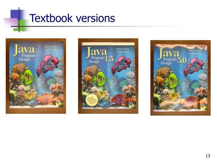 Textbook versions