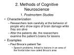 2 methods of cognitive neuroscience