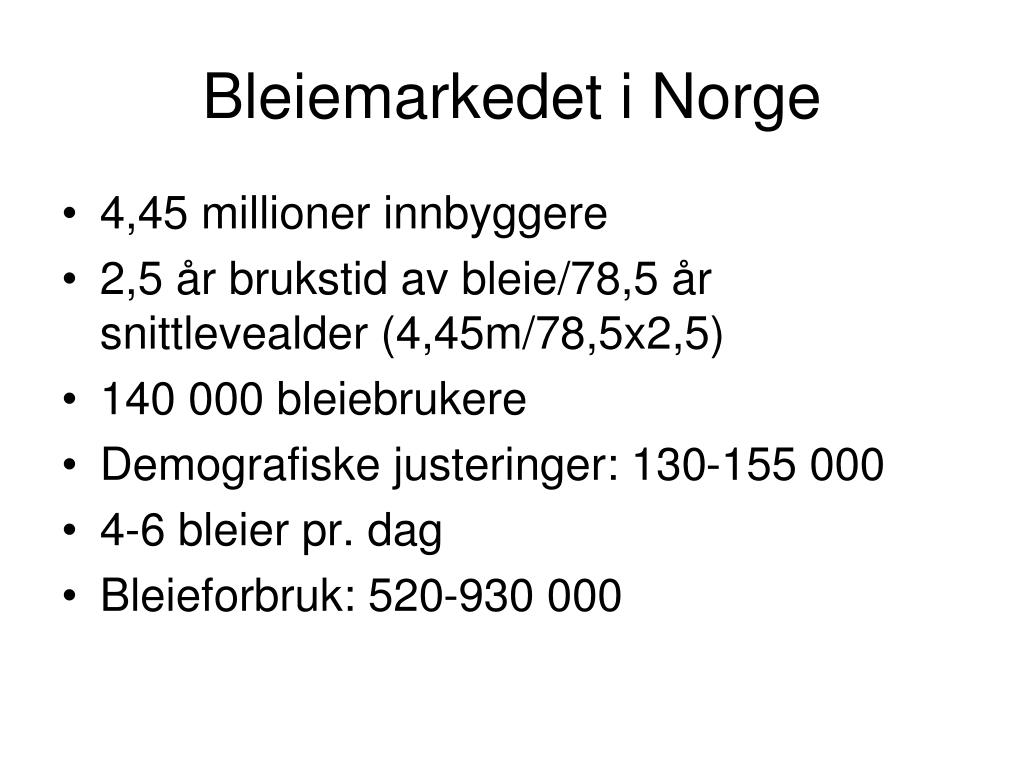 Bleiemarkedet i Norge