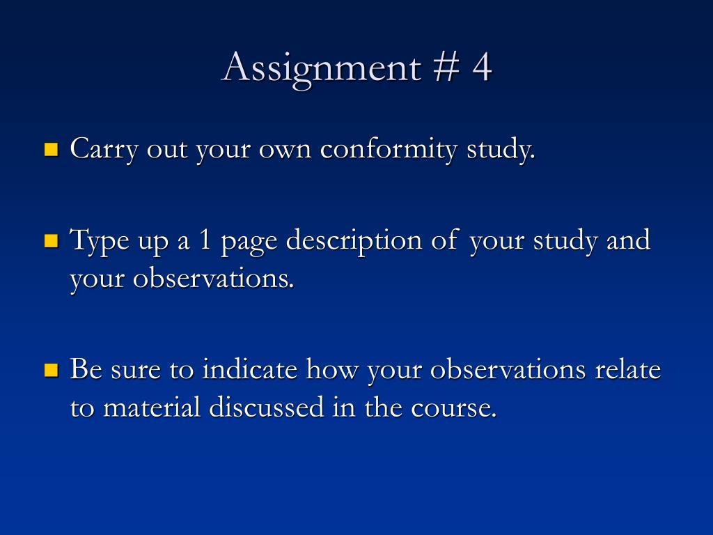 Assignment # 4
