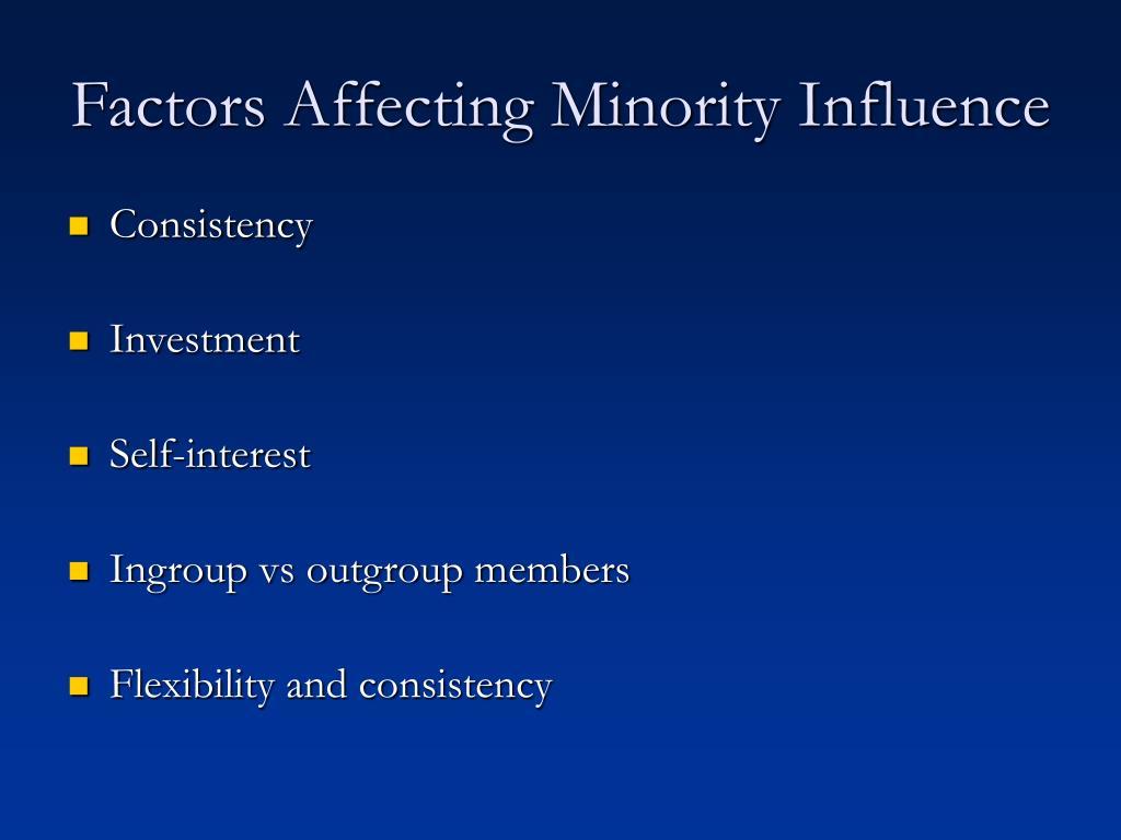 Factors Affecting Minority Influence