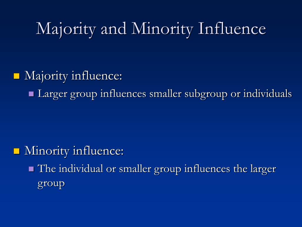 Majority and Minority Influence