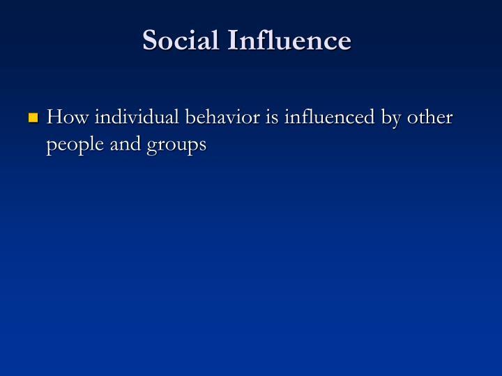 Social influence3