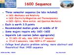 1600 sequence