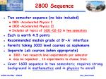 2800 sequence