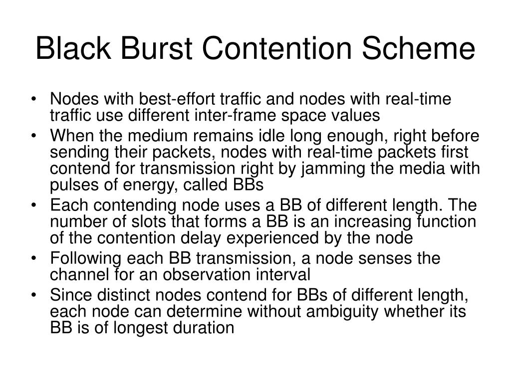 Black Burst Contention Scheme