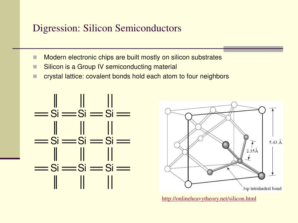Digression: Silicon Semiconductors