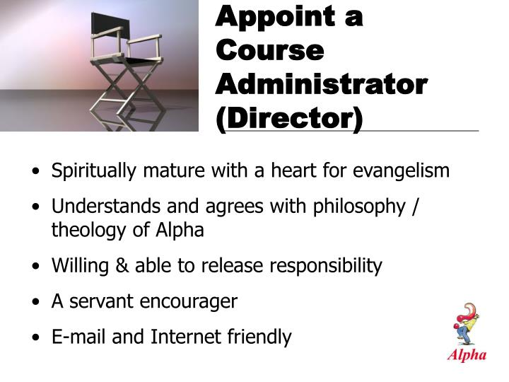 Appoint a course administrator director