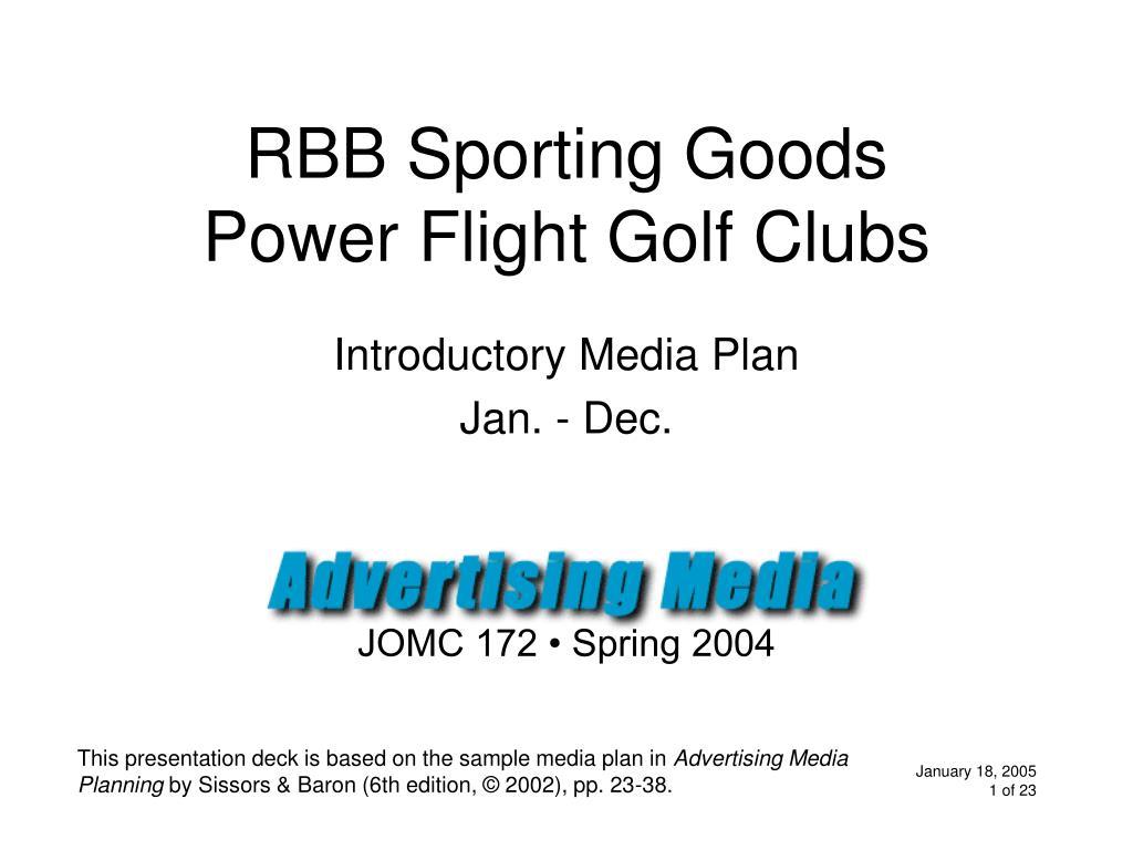 rbb sporting goods power flight golf clubs l.