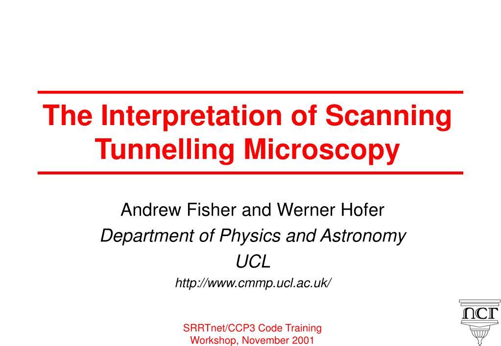 the interpretation of scanning tunnelling microscopy l.