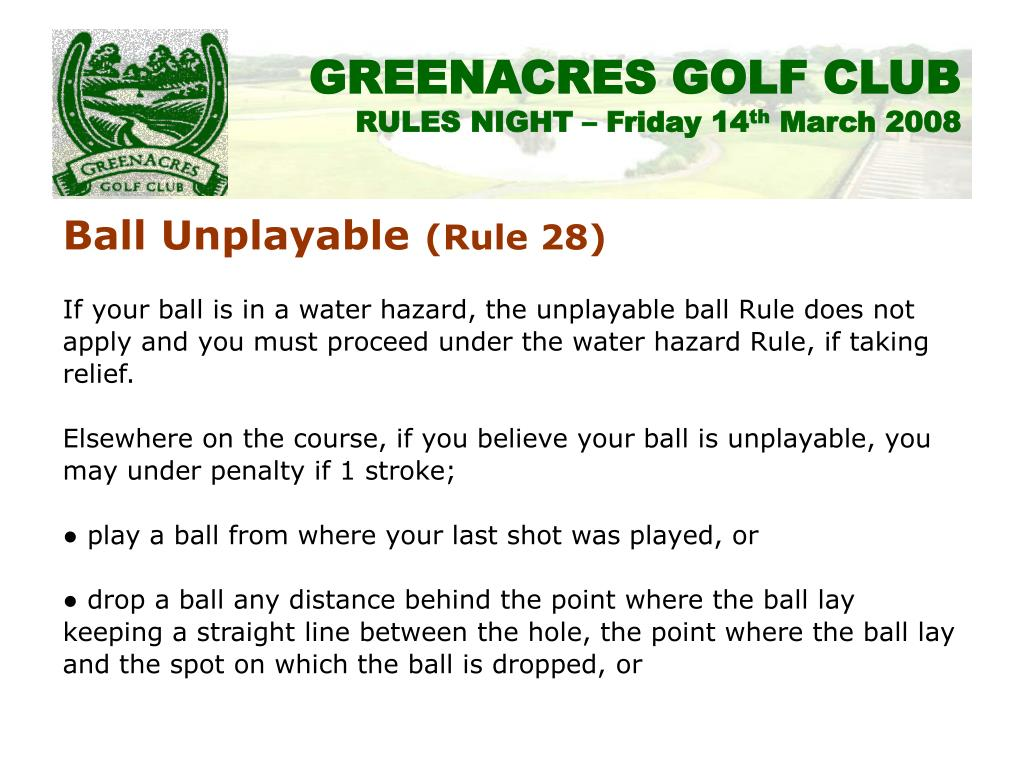 Ball Unplayable