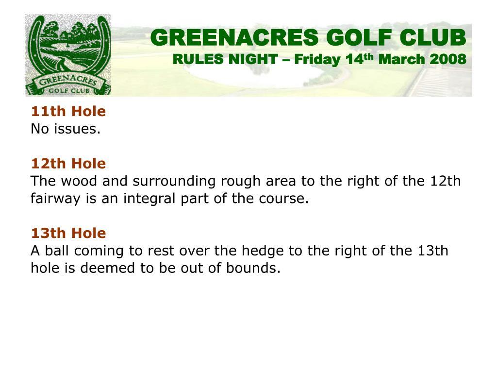 11th Hole