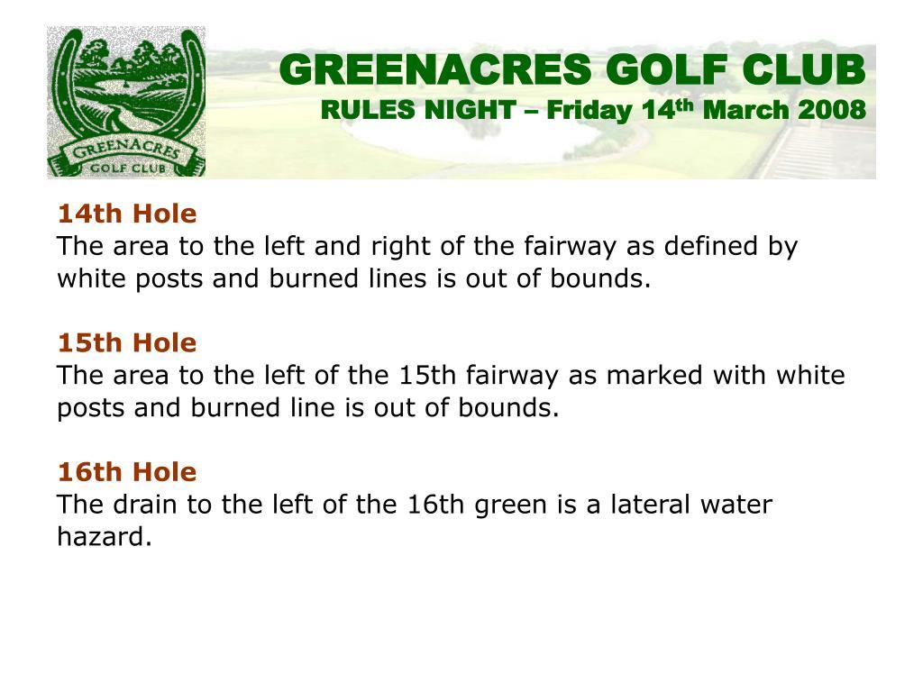 14th Hole