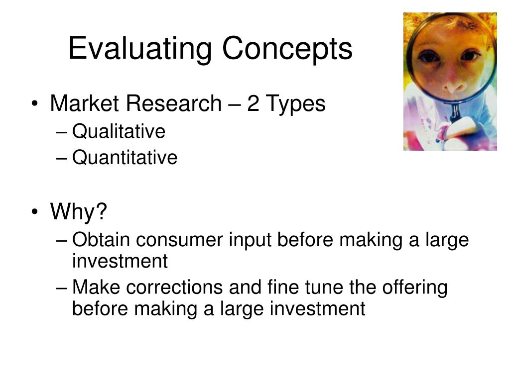 Evaluating Concepts