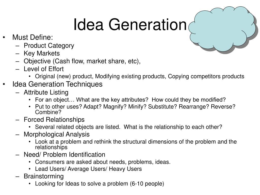 Idea Generation