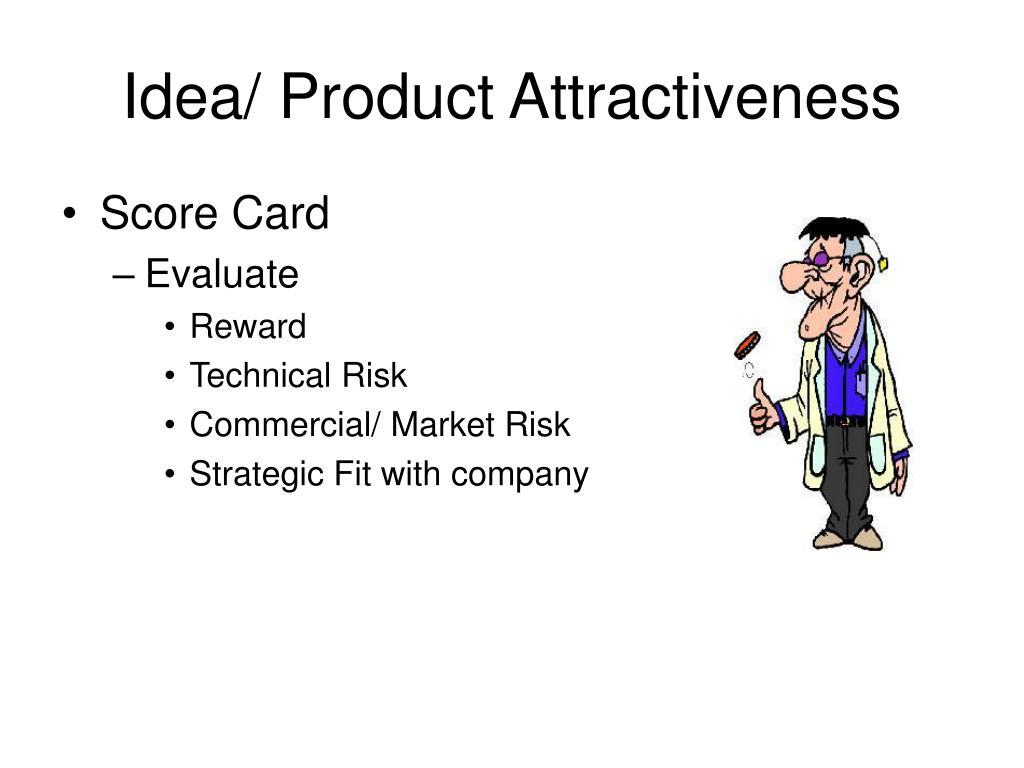 Idea/ Product Attractiveness