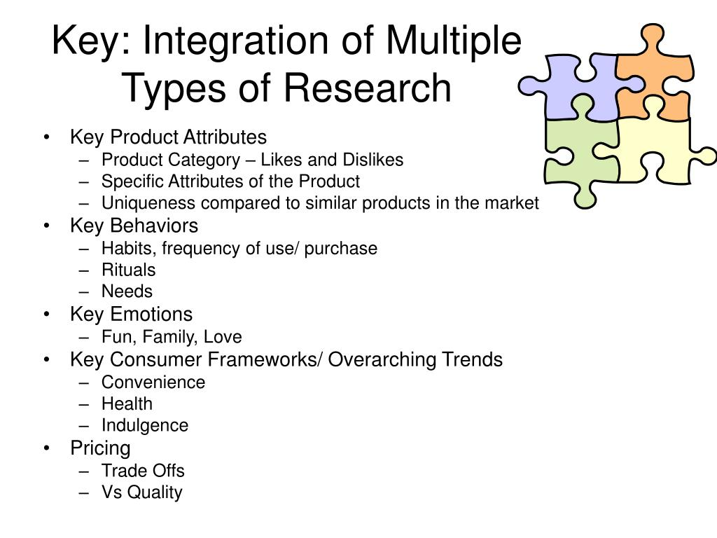 Key: Integration of Multiple Types of Research