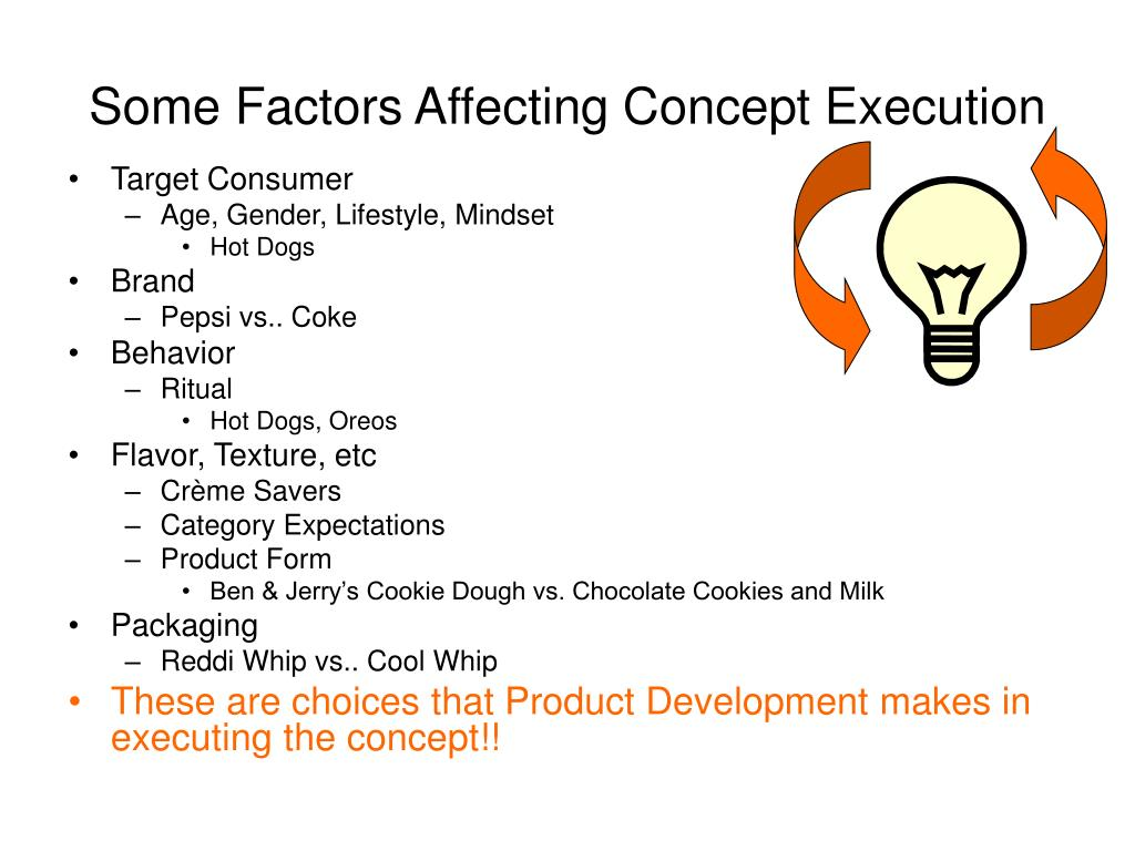 Some Factors Affecting Concept Execution