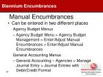 manual encumbrances