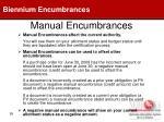manual encumbrances59