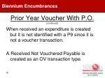 prior year voucher with p o continued