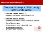 there are four ways in nis to identify prior year obligations