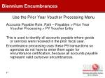 use the prior year voucher processing menu