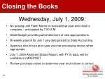 wednesday july 1 2009