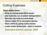 cutting expenses11