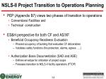 nsls ii project transition to operations planning