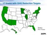 17 states with ghg reduction targets