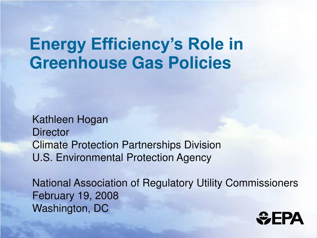 energy efficiency s role in greenhouse gas policies l.