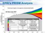 epri s prism analysis