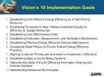 vision s 10 implementation goals