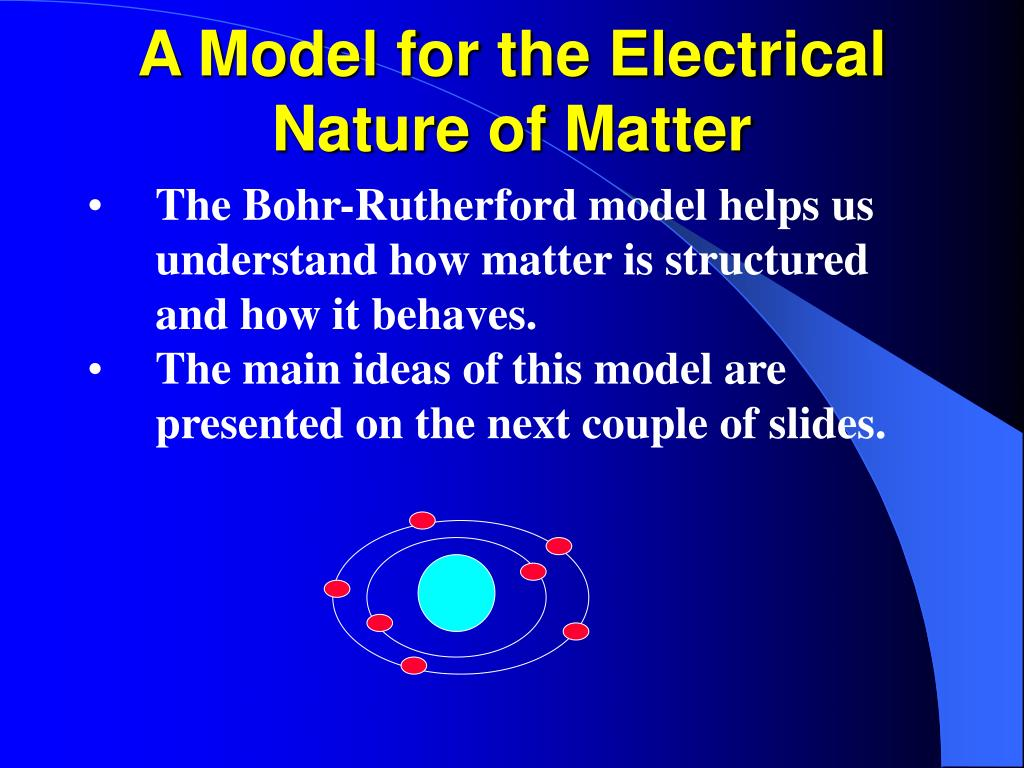 A Model for the Electrical Nature of Matter