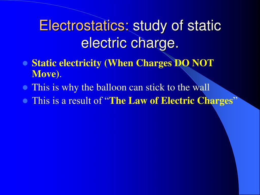 Electrostatics: