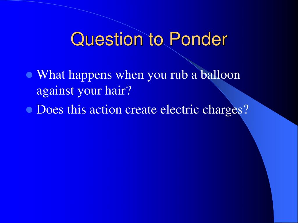Question to Ponder