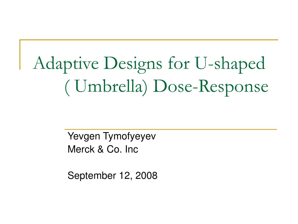 adaptive designs for u shaped umbrella dose response