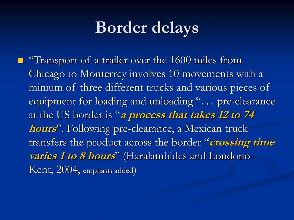 Border delays
