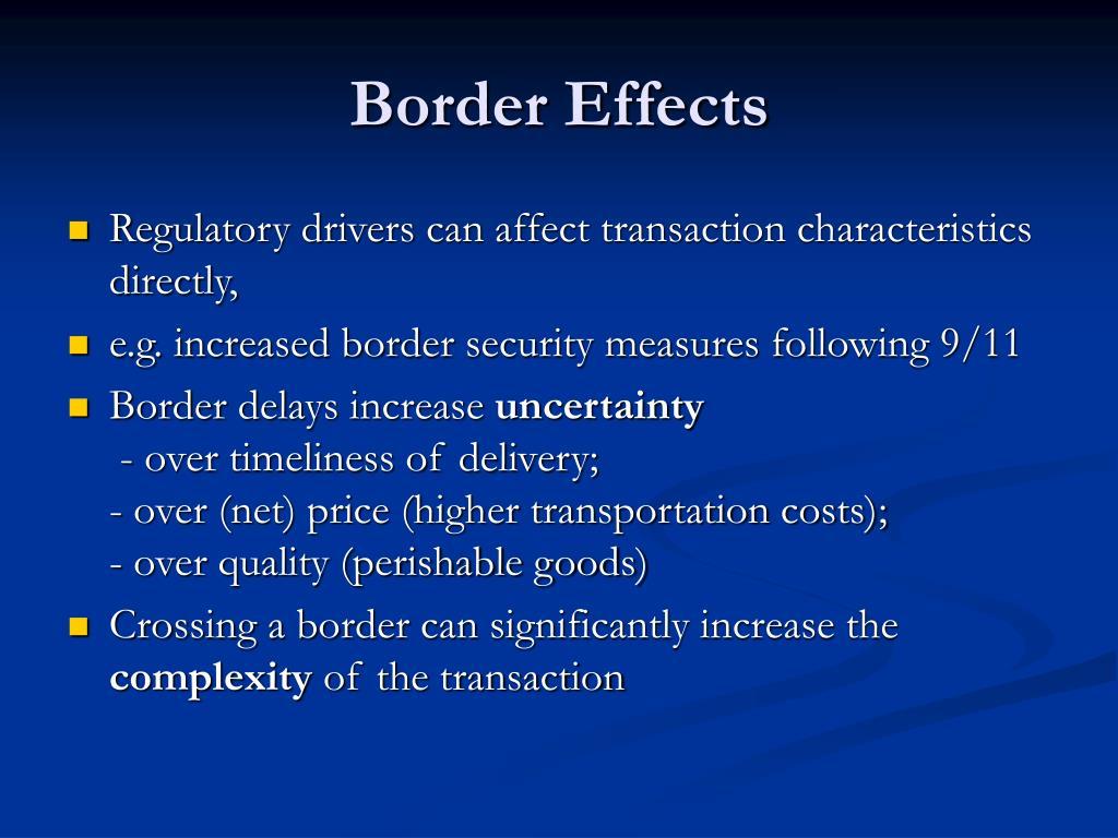 Border Effects