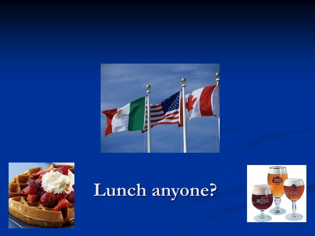 Lunch anyone?