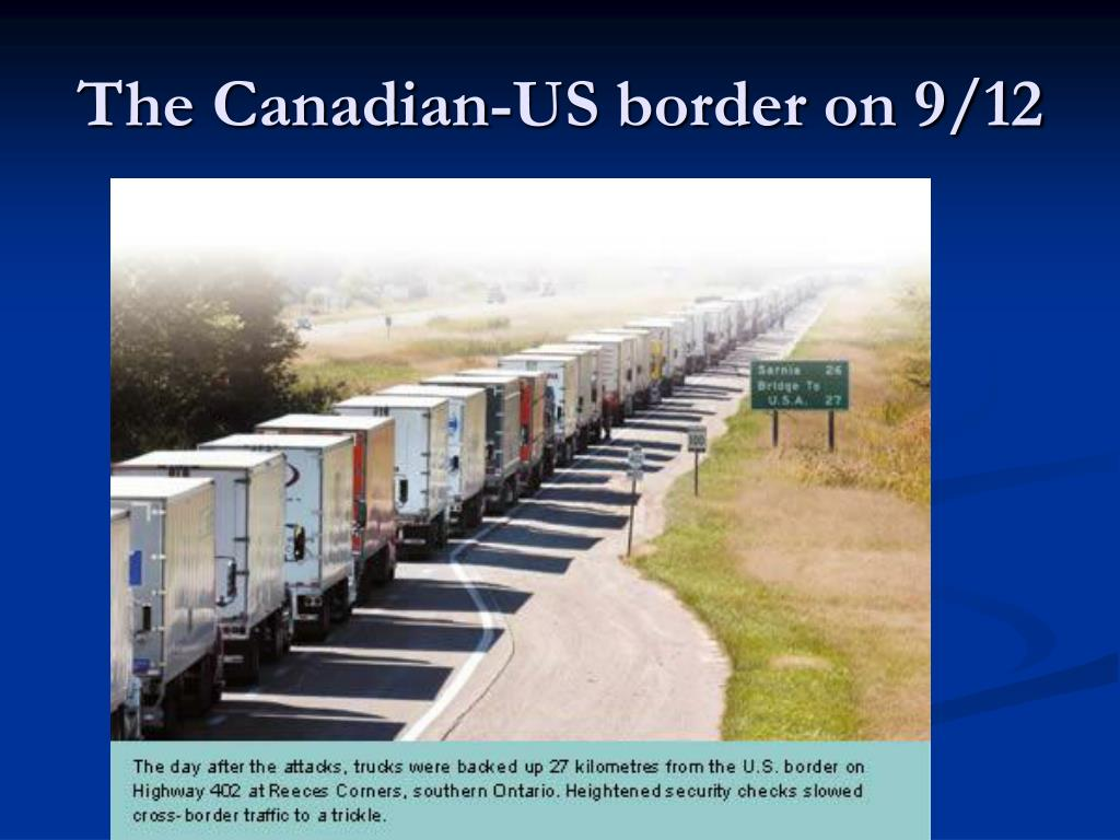 The Canadian-US border on 9/12