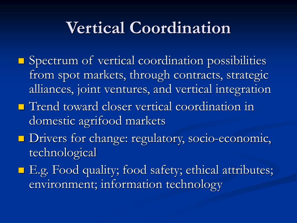 Vertical Coordination