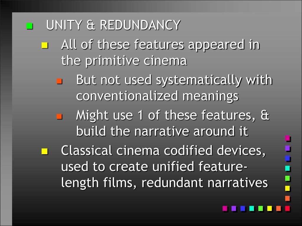 UNITY & REDUNDANCY