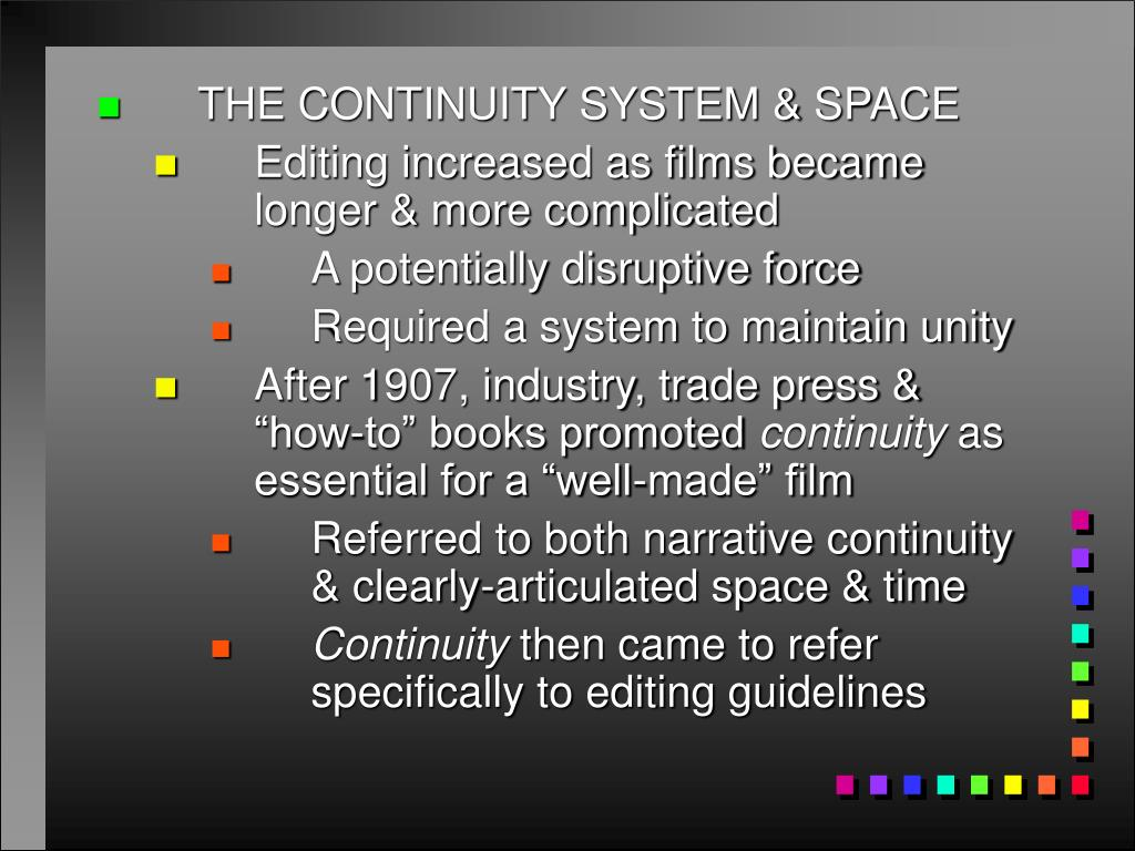 THE CONTINUITY SYSTEM & SPACE