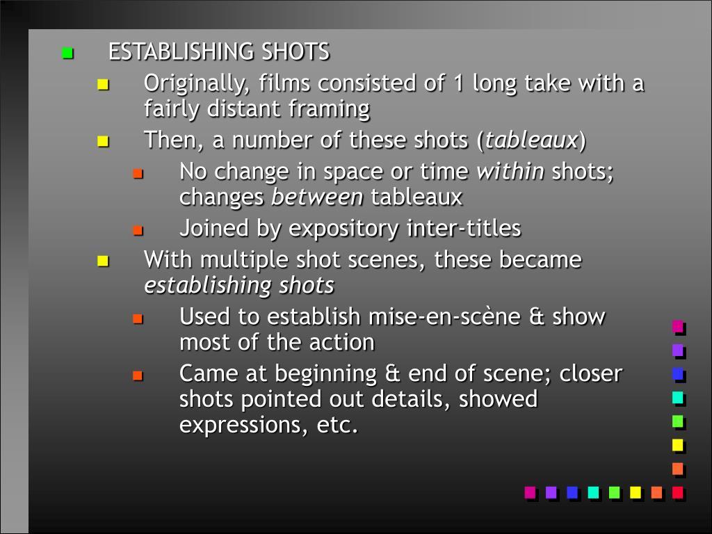 ESTABLISHING SHOTS